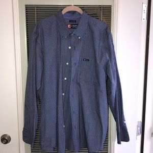 Chaps dark blue button down